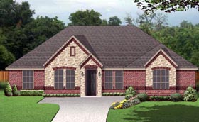 European Traditional House Plan 79325 Elevation