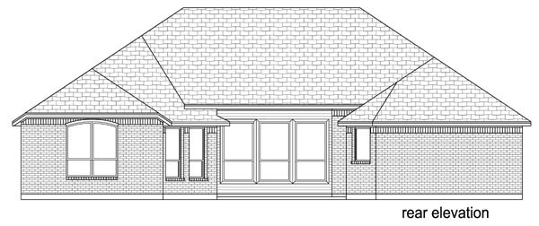 European Traditional House Plan 79325 Rear Elevation