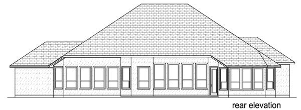 European Mediterranean Traditional House Plan 79326 Rear Elevation