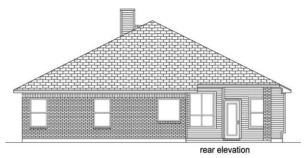 Traditional House Plan 79327 Rear Elevation