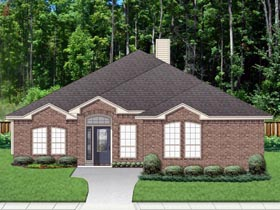 Traditional House Plan 79328 with 4 Beds, 2 Baths, 2 Car Garage Elevation
