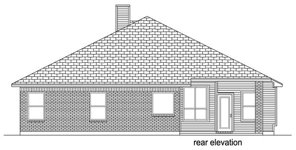 Traditional House Plan 79328 Rear Elevation