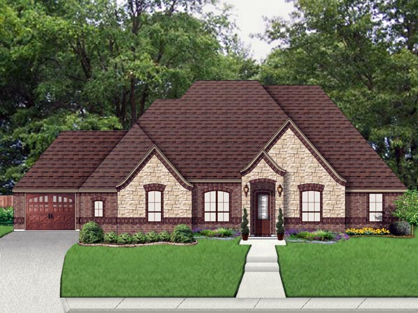 European Traditional Tudor House Plan 79329 Elevation
