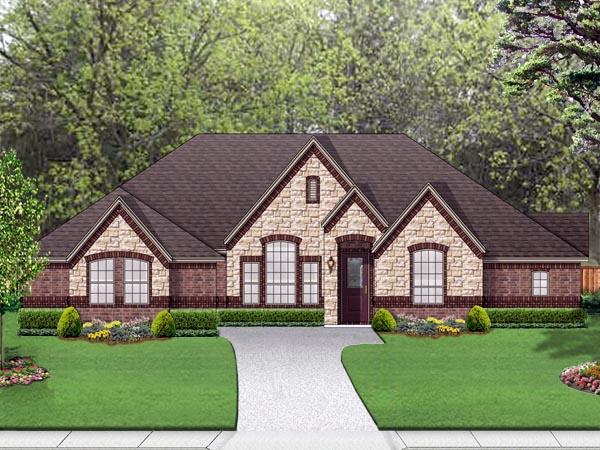 European Traditional House Plan 79330 Elevation