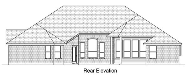 European Traditional House Plan 79330 Rear Elevation