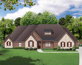 European , Traditional House Plan 79331 with 3 Beds, 3 Baths, 3 Car Garage Elevation