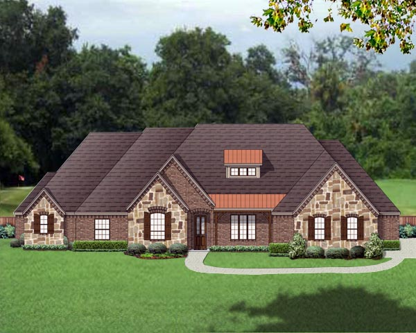 European Traditional House Plan 79332 Elevation