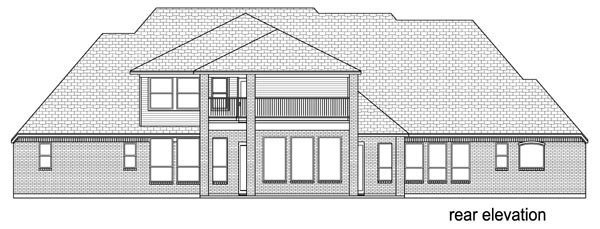 European Traditional House Plan 79332 Rear Elevation