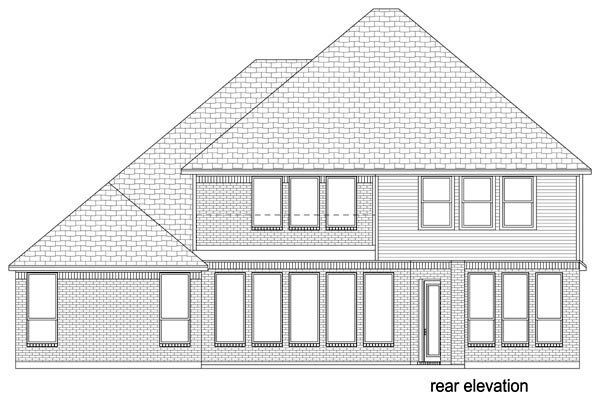 Mediterranean Traditional House Plan 79333 Rear Elevation