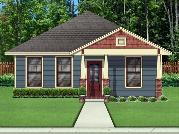 Cottage, Craftsman House Plan 79334 with 2 Beds, 2 Baths Elevation