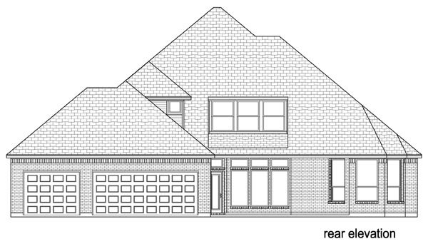 European Traditional House Plan 79336 Rear Elevation