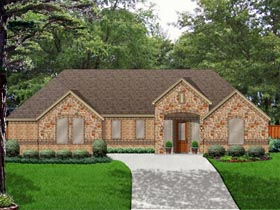 Ranch Traditional House Plan 79337 Elevation