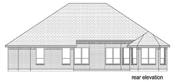 Traditional House Plan 79338 Rear Elevation