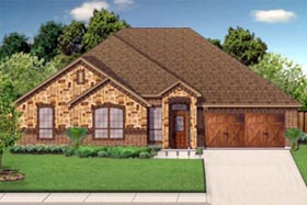 House Plan 79339 | Traditional Style Plan with 2140 Sq Ft, 4 Bedrooms, 2 Bathrooms, 2 Car Garage Elevation