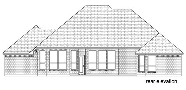 Traditional House Plan 79341 Rear Elevation