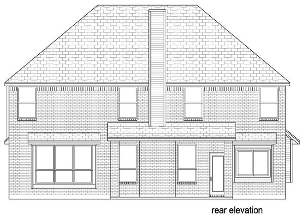 Traditional House Plan 79342 Rear Elevation
