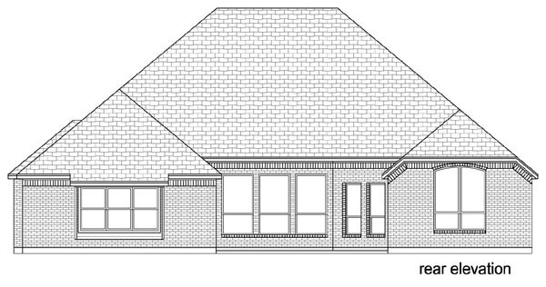 Traditional House Plan 79346 Rear Elevation