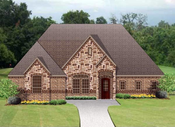 European Traditional House Plan 79347 Elevation