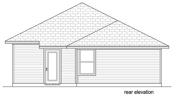 Southern Traditional House Plan 79350 Rear Elevation