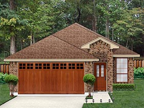 Traditional House Plan 79351 with 3 Beds, 2 Baths, 2 Car Garage Elevation