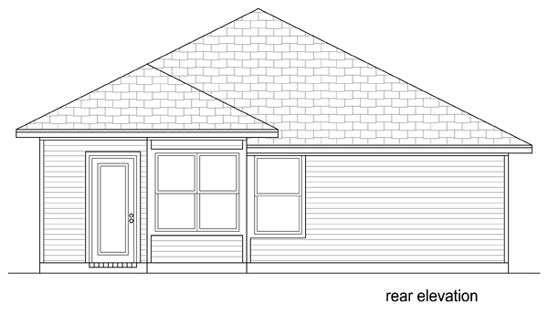 Traditional House Plan 79351 Rear Elevation