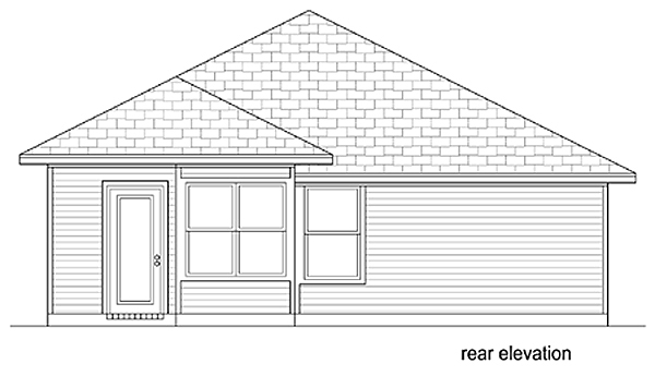 Traditional House Plan 79352 Rear Elevation