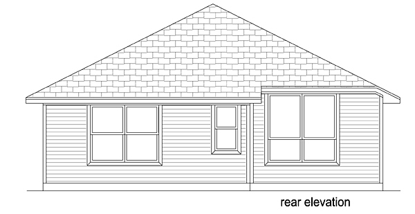Country Traditional House Plan 79353 Rear Elevation