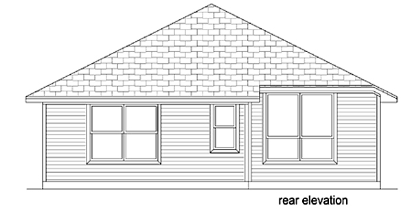 Craftsman Traditional House Plan 79354 Rear Elevation
