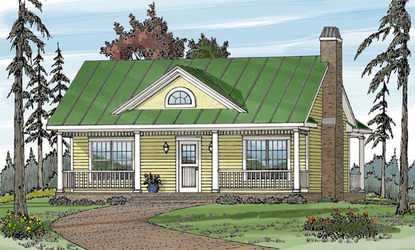 Country House Plan 79500 with 1 Beds, 1 Baths Elevation