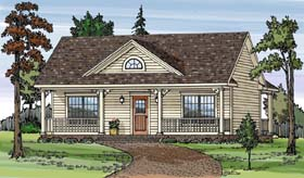 Country House Plan 79501 with 2 Beds, 1 Baths Elevation