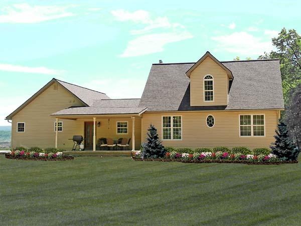 House Plan 79502 Rear Elevation