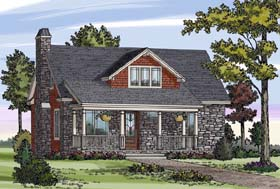 House Plan 79503 | Cottage Country Craftsman Farmhouse Style Plan with 1505 Sq Ft, 3 Bedrooms, 3 Bathrooms Elevation