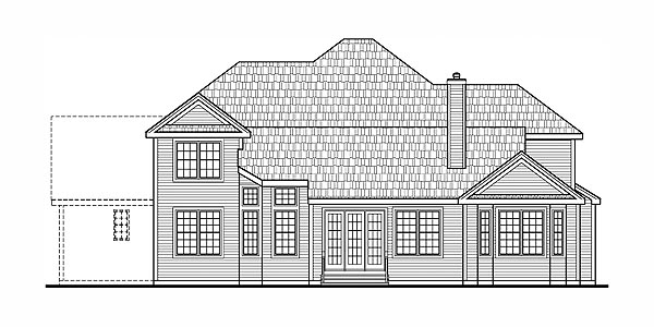 House Plan 79504 Rear Elevation