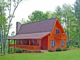 Cabin Country Log House Plan 79505 Elevation