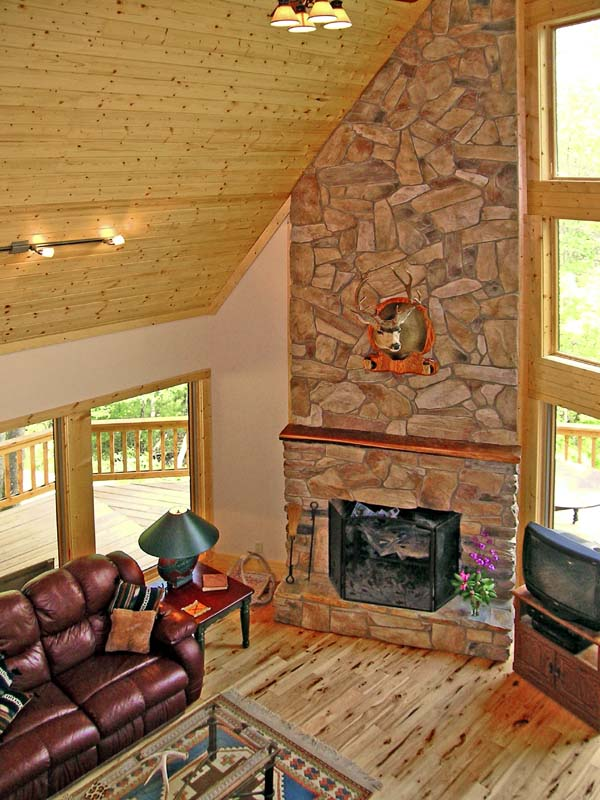 Cabin, Country, Log House Plan 79505 with 3 Beds, 2 Baths Picture 2