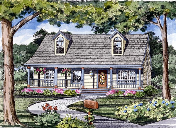 Cape Cod, Cottage, Country, Traditional House Plan 79510 with 3 Beds, 2 Baths Elevation