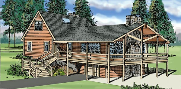 Country Craftsman Traditional House Plan 79513 Elevation