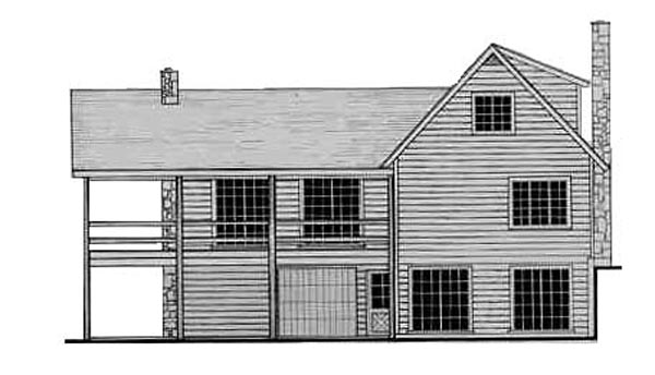 Country Craftsman Traditional House Plan 79513 Rear Elevation