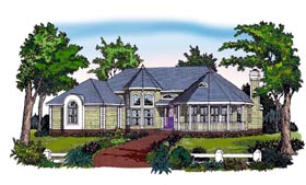 House Plan 79514 | Country Traditional Victorian Style Plan with 2367 Sq Ft, 3 Bedrooms, 2 Bathrooms, 2 Car Garage Elevation