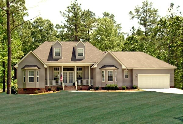 Country, Farmhouse, Southern, Traditional House Plan 79518 with 3 Beds, 2 Baths, 2 Car Garage Front Elevation
