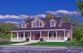 Traditional , Southern , Farmhouse , Country , Coastal House Plan 79521 with 3 Beds, 3 Baths, 2 Car Garage Elevation