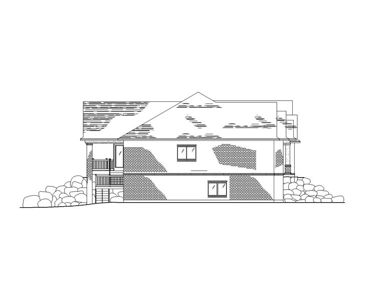 European House Plan 79770 with 2 Beds, 3 Baths, 3 Car Garage Picture 2