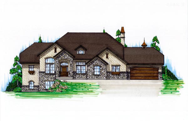 European House Plan 79781 Elevation