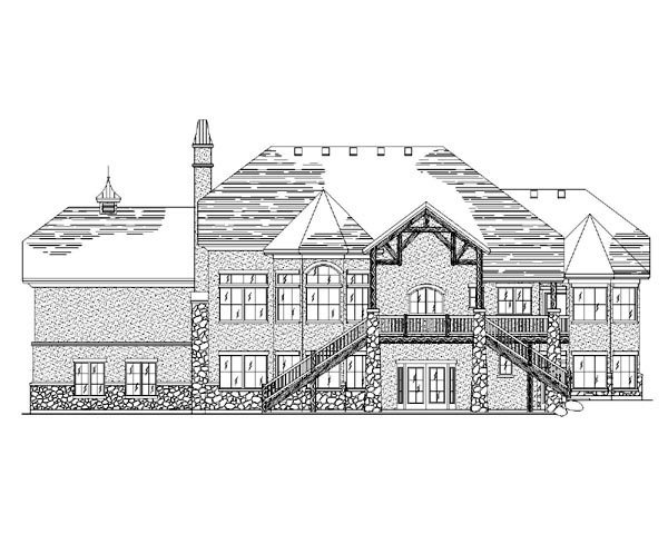 European House Plan 79781 Rear Elevation