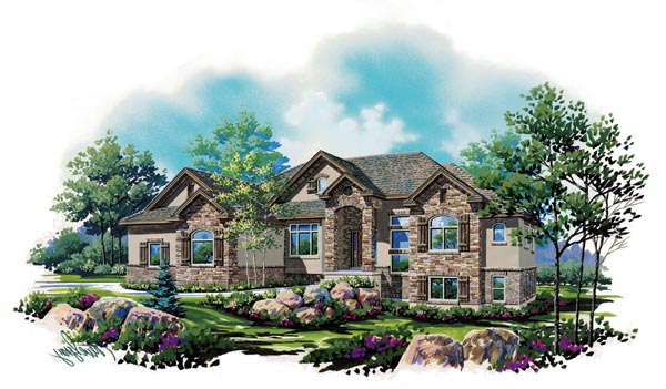 European House Plan 79797 with 5 Beds, 4 Baths, 3 Car Garage Elevation
