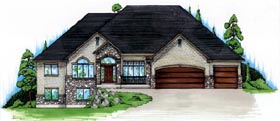 House Plan 79813 | European Style Plan with 2490 Sq Ft, 3 Bedrooms, 3 Bathrooms, 3 Car Garage Elevation