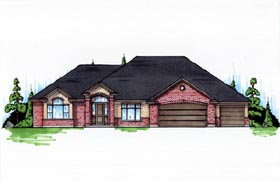 House Plan 79816 | Traditional Style Plan with 2536 Sq Ft, 2 Bedrooms, 2 Bathrooms, 3 Car Garage Elevation