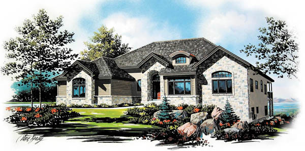 House Plan 79818 | European Style Plan with 2552 Sq Ft, 6 Bedrooms, 5 Bathrooms, 3 Car Garage Elevation