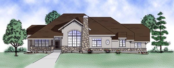 House Plan 79820 | European Style Plan with 2566 Sq Ft, 4 Bedrooms, 3 Bathrooms, 3 Car Garage Elevation