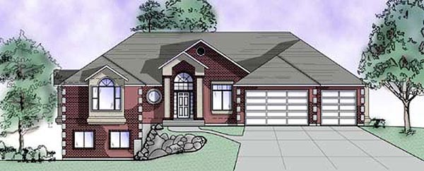 House Plan 79830 | European Style Plan with 2612 Sq Ft, 5 Bedrooms, 4 Bathrooms, 3 Car Garage Elevation